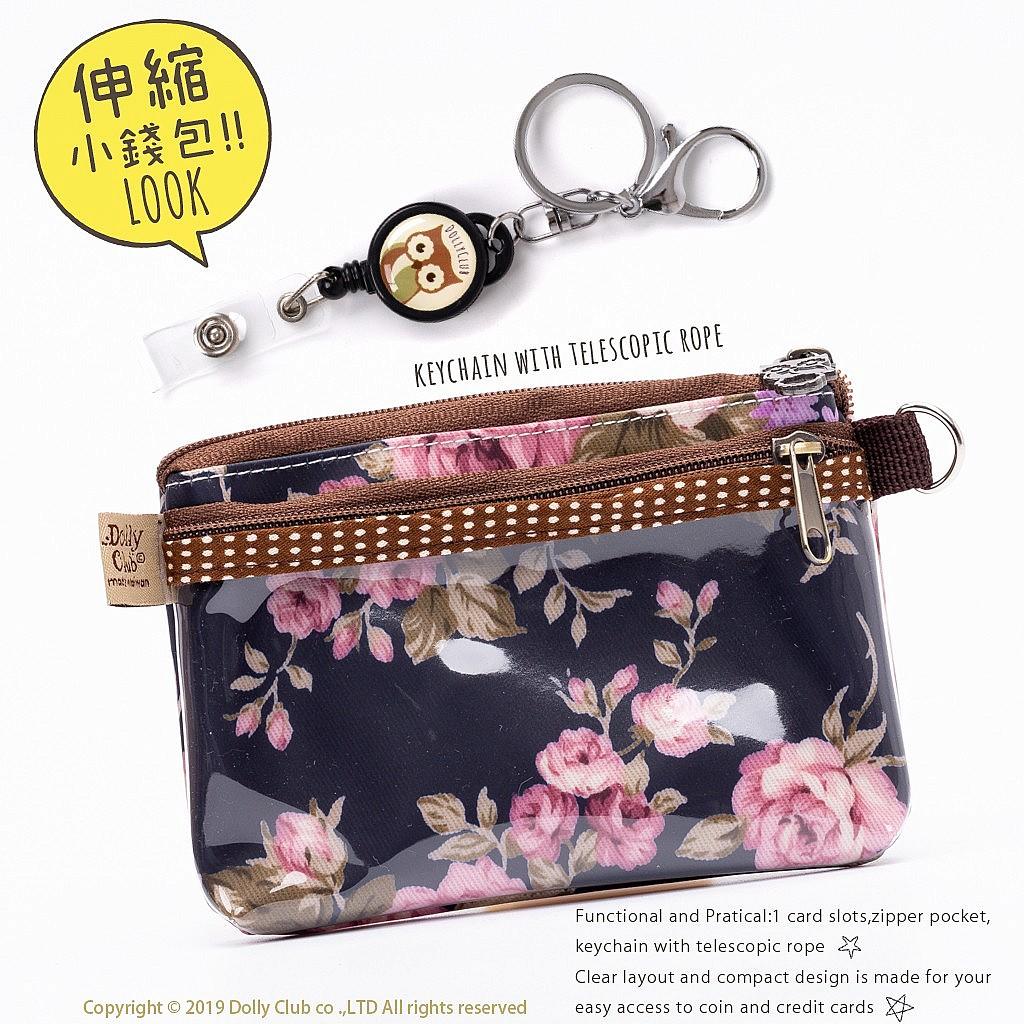 伸縮小零包-A3P-薔葳玫瑰-藍-116